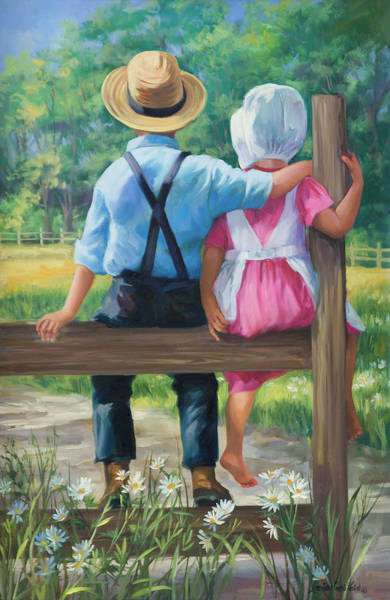 Wall Art - Painting - First Love by Laurie Snow Hein