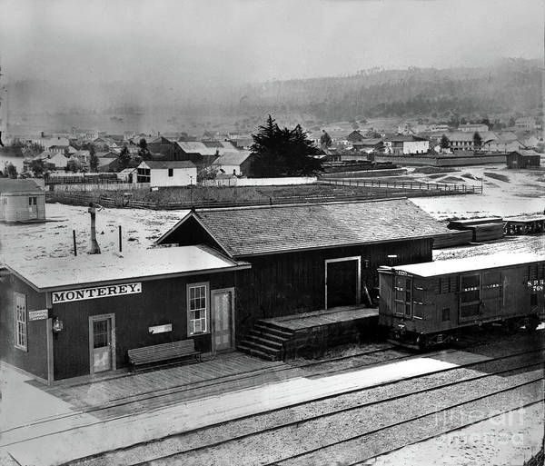 Photograph - First Monterey Depot 1875 by California Views Archives Mr Pat Hathaway Archives