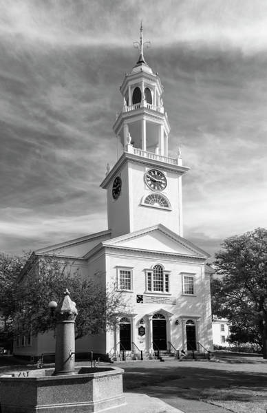 Photograph - First Parish Church by Mick Burkey