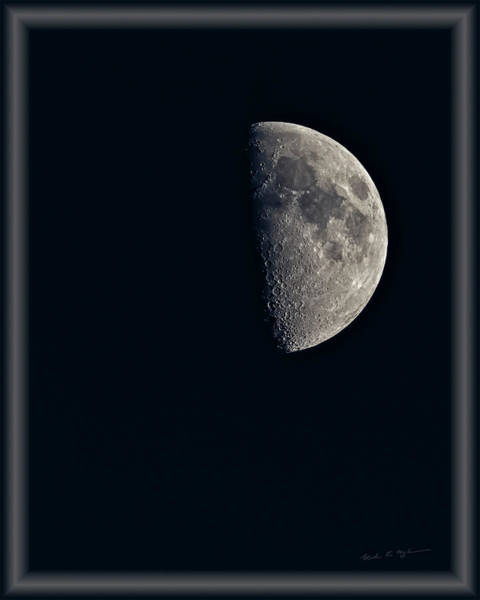 Photograph - First Quarter Moon V46 by Mark Myhaver