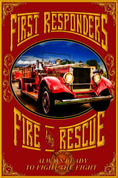 Photograph - First Responders Fire And Rescue by TL Mair