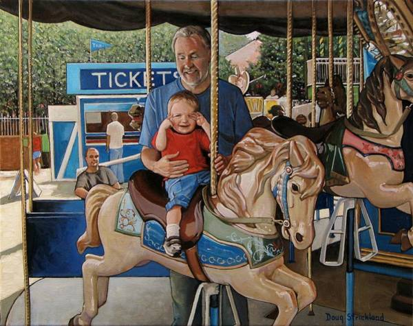 Horsemanship Painting - First Ride by Doug Strickland