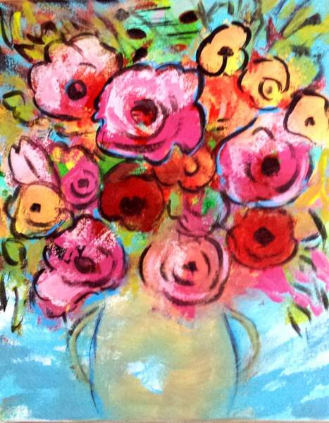 Painting - First Roses Of Summer by Nikki Dalton