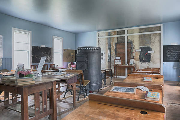 Photograph - First School Of De Smet Interior by Susan Rissi Tregoning