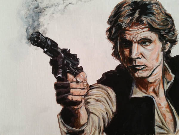 First Shot - Han Solo Art Print