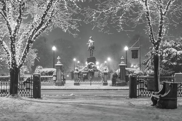 Photograph - First Snow At Boston's Public Garden by Kristen Wilkinson