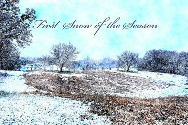 Digital Art - First Snow Card by Susan Leggett