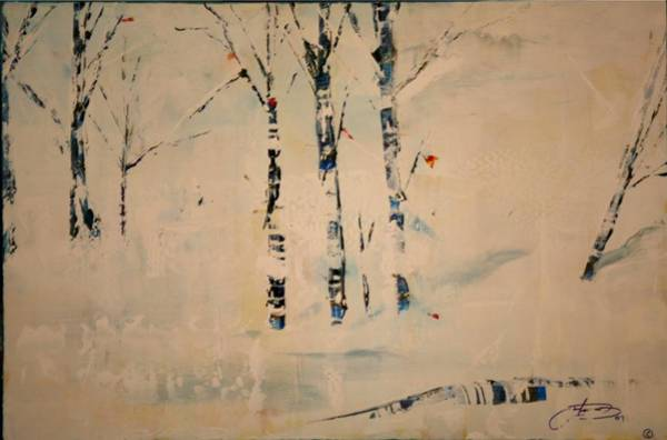 Painting - First Snow Central Park by Jack Diamond
