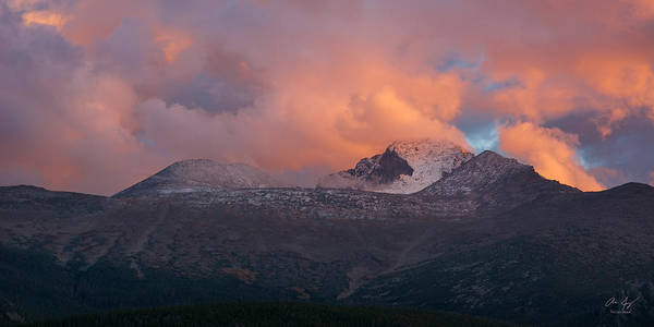 Photograph - First Snow On Longs Peak by Aaron Spong