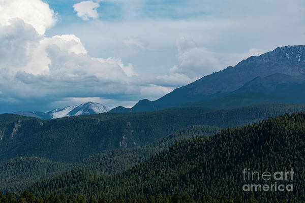 Photograph - First Snow On Pikes Peak by Steve Krull