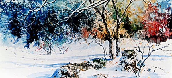 First Snowfall Wall Art - Painting - First Snowfall by Hanne Lore Koehler