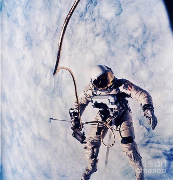 Photograph - First Spacewalk by Nasa