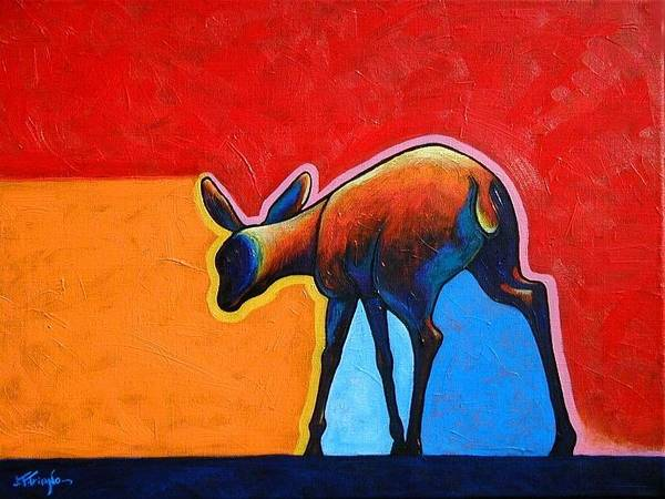 Deer Wall Art - Painting - First Steps by Joe  Triano