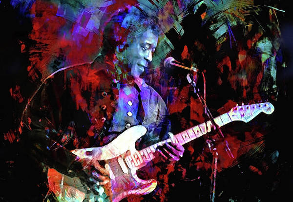 Wall Art - Digital Art - First Time I Met The Blues by Mal Bray