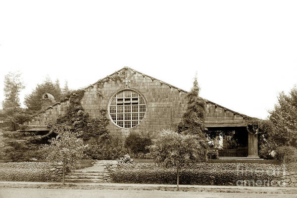 Photograph -  First Unitarian Church Berkeley Ca Circa 1905 by California Views Archives Mr Pat Hathaway Archives
