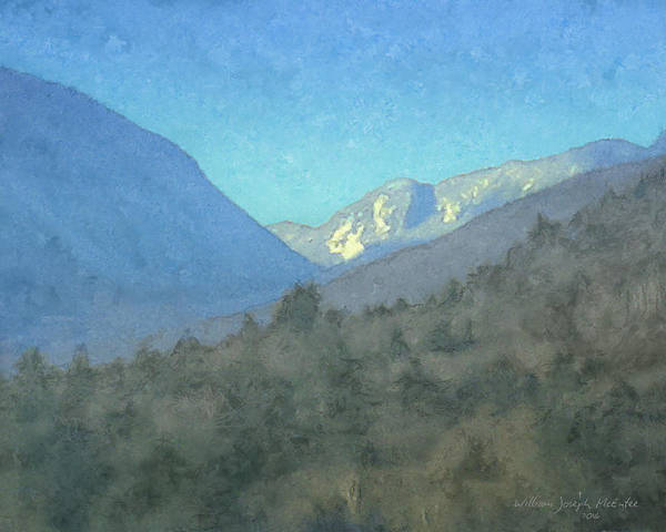 Painting - First View Of Franconia Notch by Bill McEntee