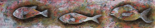 Wall Art - Painting - Fish 1 by Mayu Kawasaki
