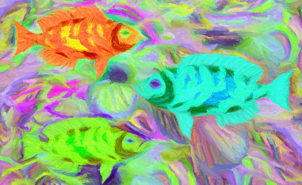 Digital Art - Fish 3 by Caito Junqueira