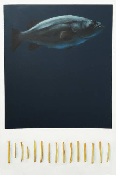 Grouper Painting - Fish And Chips by Jeffrey Bess