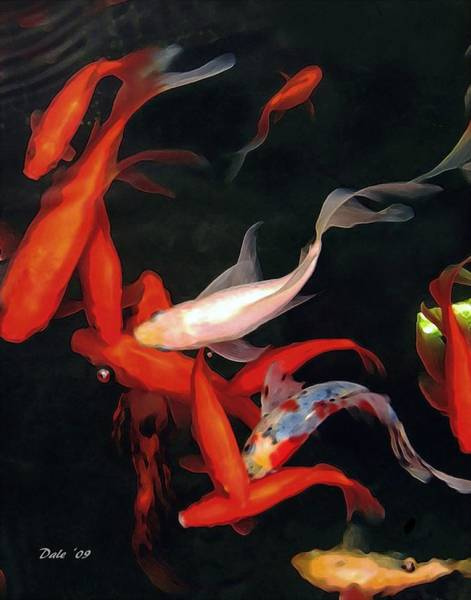 Digital Art - Fish Ballet by Dale   Ford