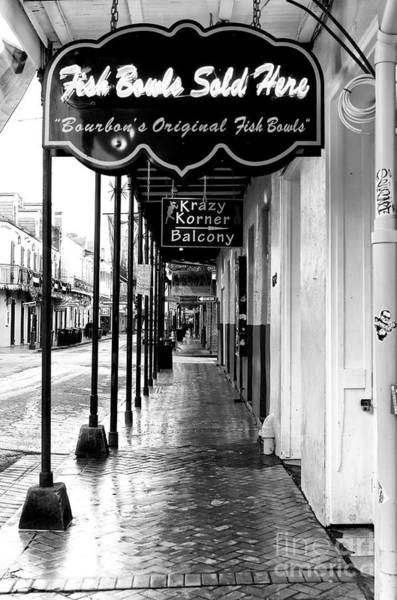 Wall Art - Photograph - Fish Bowls Sold Here On Bourbon Street New Orleans by John Rizzuto