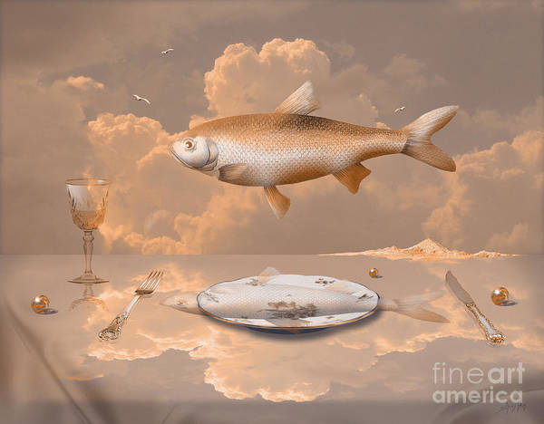 Digital Art - Fish Diner by Alexa Szlavics