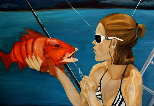 Wall Art - Painting - Fish Face by Victoria Dietz