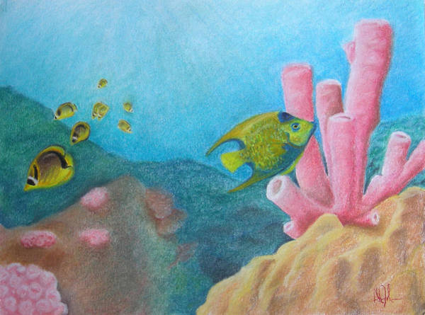 Fish Garden Art Print