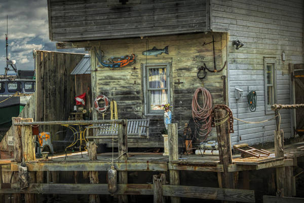 Photograph - Fish House On The River At Fishtown In Leland Michigan by Randall Nyhof