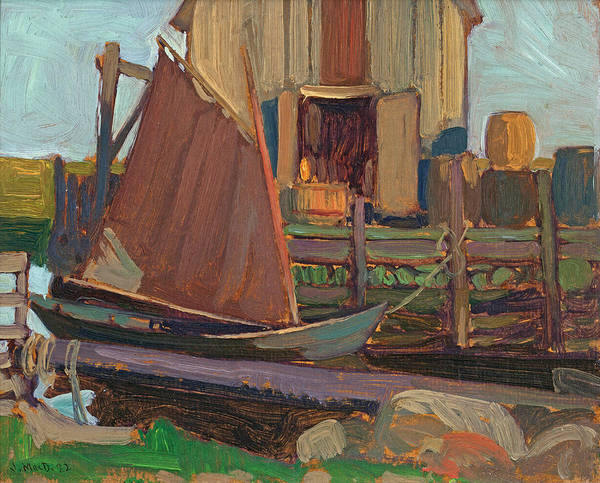 Riviere Painting - Fish Houses Petite Riviere N.s. by James Edward Hervey MacDonald
