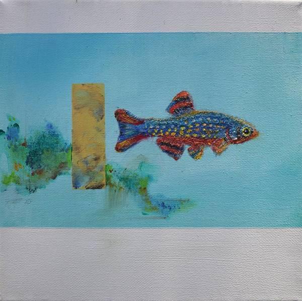 Painting - Fish In Space by Eduard Meinema
