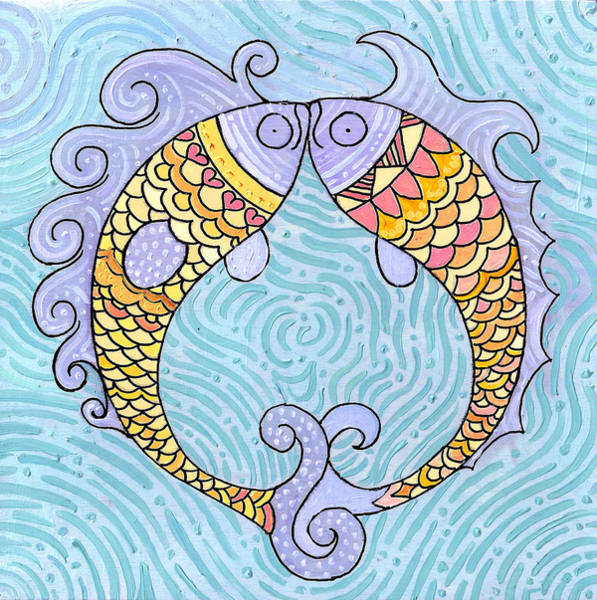 Painting - Fish Love by Caroline Sainis