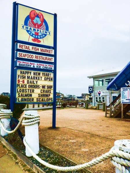 Photograph - Fish Market And Seafood Restaurant by Nancy De Flon