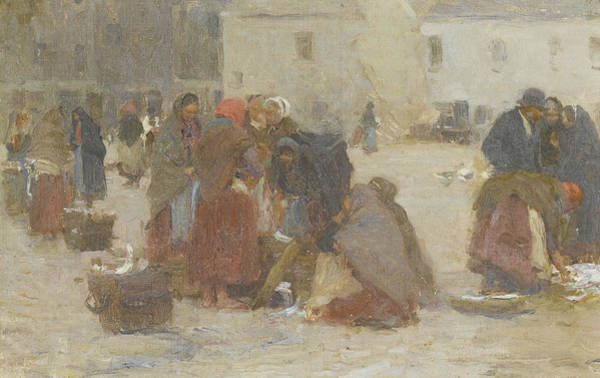 Galway Painting - Fish Market, Galway by Walter Osborne