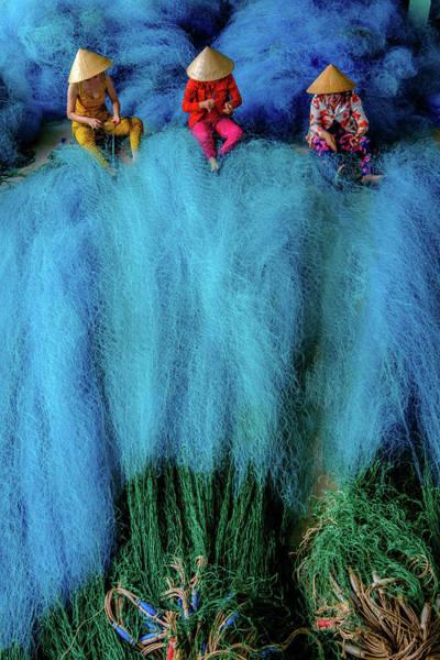 Photograph - Fish-net-worker by Okan YILMAZ