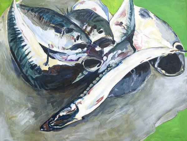 Fish On A Table Art Print