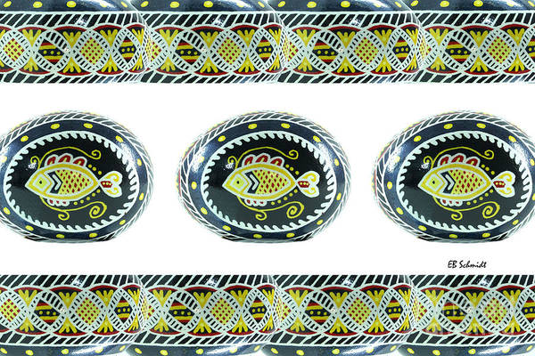 Photograph - Fish Pysanky White by E B Schmidt