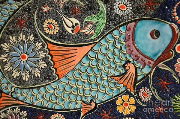 Painting - Fish Tile by Celestial Images