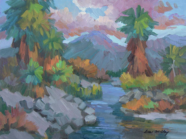Wall Art - Painting - Fish Trap Indian Canyon by Diane McClary