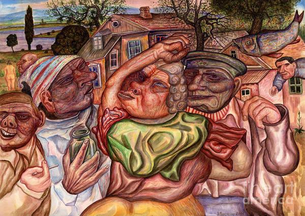 Sick Painting - Fish by Vladimir Feoktistov