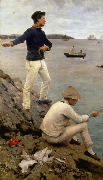 Painting - Fisher Boys by Henry Scott Tuke