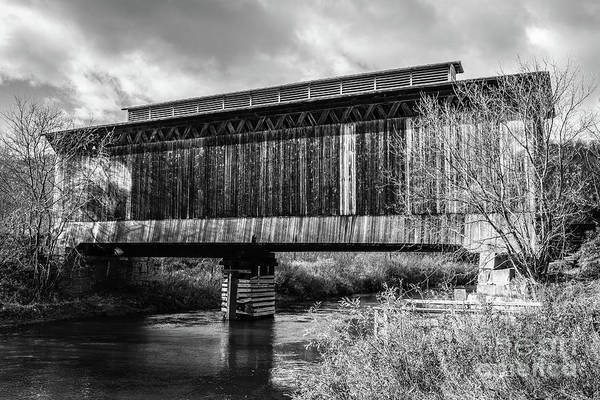 Wall Art - Photograph - Fisher Covered Bridge Wolcott Vermont by Edward Fielding
