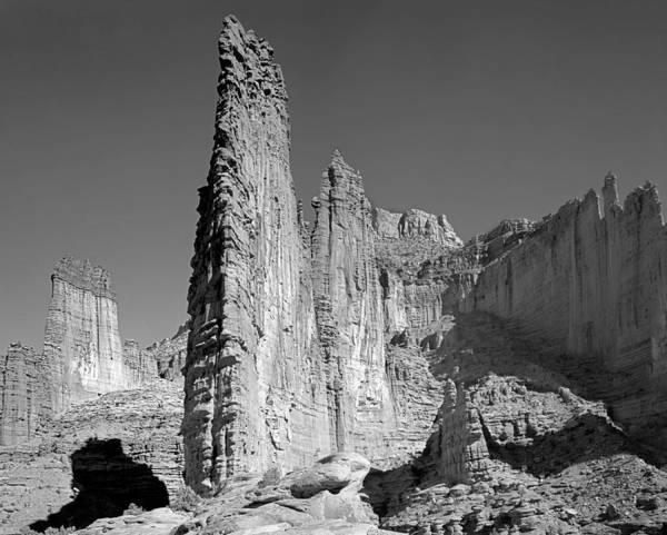 Photograph - 612728,612730-fisher Towers  by Ed  Cooper Photography