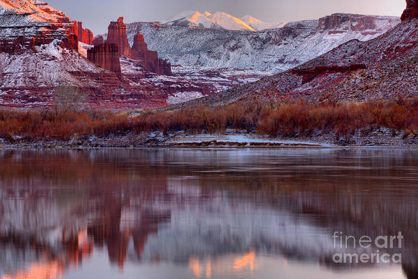 Photograph - Fisher Towers Fading Sunset by Adam Jewell