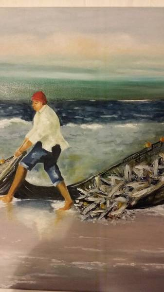 Photograph - Fisherman by Elizabeth Hoare Gregory