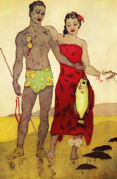 Archival Painting - Fisherman by Hawaiian Legacy Archives - Printscapes