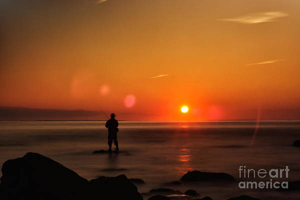 Photograph - Fisherman In Montauk Sunrise by Alissa Beth Photography