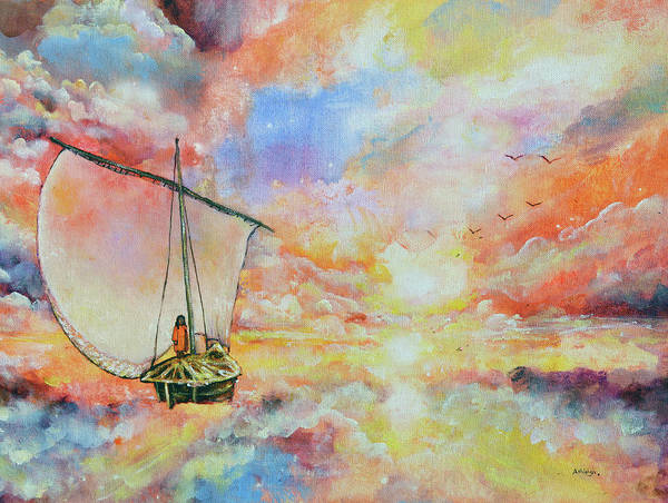 Paramhansa Yogananda Painting - Fisherman Of Souls by Ashleigh Dyan Bayer