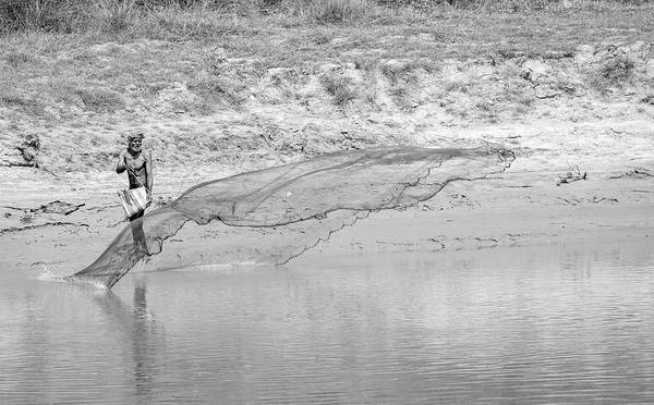 Photograph - Fisherman On The Lower Ganges by Chris Cousins