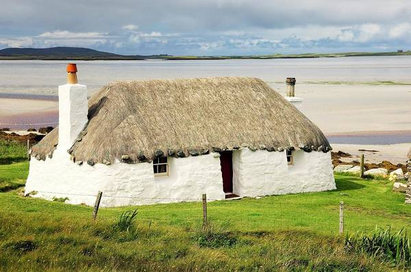 Fishermans Cottage At Malacleit In The Outer Hebrides Art Print